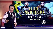 MMA analyst Robin Black breaks down in detail the UFC 194 title showdown between Conor McGregor and Jose Aldo at the MGM Grand Garden Arena in Las Vegas and only on pay per view.