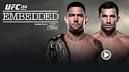 """UFC Embedded: Aldo vs. McGregor"" is an all-access, behind-the-scenes look at the lives and training camps of four elite fighters ahead of UFC 194 event in Las Vegas as middleweight champion Chris Weidman faces rival Luke Rockhold in the co-main event."