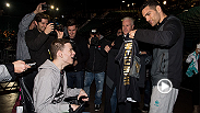 Chris Weidman surprises Ian Matuszak, a fan who has cerebral palsy, by having him join his team for the walkouts at UFC 194 against Luke Rockhold.