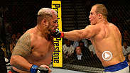 "Before his second heavyweight title fight against Cain Velasquez, Junior Dos Santos knocked out Mark Hunt in the third round at UFC 160. Don't miss ""Cigano"" take on Alistair Overeem at Fight Night: dos Anjos vs. Cowboy 2 on Dec. 19."