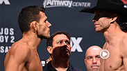 Watch the staredowns between Rafael dos Anjos-Cowboy Cerrone, Alistair Overeem-Junior Dos Santos, and Nick Diaz and Michael Johnson ahead of Saturday's bouts at Fight Night Orlando live and free on FOX.