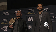Watch as Andrei Arlovski and Stipe Miocic have a little fun before things get serious between Robbie Lawler and Carlos Condit at the face-offs during UFC 195 media day.