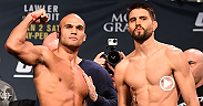 UFC correspondent Megan Olivi brings you the recap from the UFC 195 official weigh-ins at MGM Grand in the Marquee Ballroom. Robbie Lawler and Carlos Condit spoke about their main event title showdown that goes down Saturday live on Pay-Per-View.
