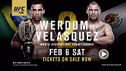 UFC 196 is around the corner. Don't miss Werdum vs. Velasquez 2 on Feb. 6 live from the MGM Grand Garden Arena in Las Vegas, Nevada. Tickets are on sale now!