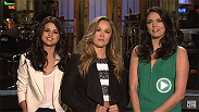 UFC superstar Ronda Rousey hosts Saturday Night Live on January 23, 2016 with musical guest Selena Gomez.