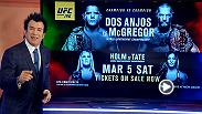 MMA analyst Robin Black goes deep and breaks down the lightweight championship fight between Rafael Dos Anjos and Conor McGregor at UFC 196 in Las Vegas on March 5, 2016.