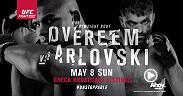 The UFC travels to The Netherlands for the first time and hometown fighter Alistair Overeem is slated for the main event. Overeem, the 3rd-ranked heavyweight, will take on sixth-ranked Andrei Arlovski at Ahoy Rotterdam.