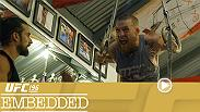 Conor McGregor enjoys the freedom of a new weight class, eating and training with full energy. Champion Holly Holm enjoys a rare day off while opponent Miesha Tate goes for an evening run to prepare on Episode 1 of UFC 196 Embedded