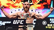 "Backstage before his final staredown with his UFC 196 opponent Nate Diaz, Conor McGregor watched as Tom Lawlor weighed in with stick on McGregor tattoos and did his best ""Notorious"" impression for the Irish masses in attendance."