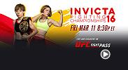 Re-watch the official weigh-in for Invicta FC 16: Hamasaki vs. Brown from Thursday, March 10 at the Tropicana Lounge in Las Vegas.