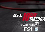 Go inside the Octagon to follow some of the best fighters, fights and behind the scenes action with the UFC 10 Day Takedown on FS1, starting March 21 at 7pm ET.