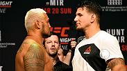 Re-live the action from Friday's weigh-in for Fight Night Brisbane, including main event stars Mark Hunt and Frank Mir. Don't miss the main card on FS1 on Saturday, March 19 beginning at 10pm/7pm ETPT.