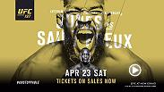 UFC 197 features the interim light heavyweight championship fight between Jon Jones and Ovince Saint Preux. In the co-main Demetrious Johnson defends his flyweight belt vs. Henry Cejudo. The action begins April 23 live on Pay-Per-View.