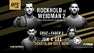 Luke Rockhold makes his first middleweight belt defense in a rematch against Chris Weidman at UFC 199. In the co-main, Dominick Cruz attempts to defend his bantamweight belt vs. Urijah Faber live from The Forum in Los Angeles. Tickets go on sale Now!
