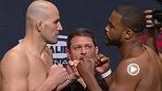 Watch the official weigh-in for Fight Night: Teixeira vs. Evans on Friday, April 15 9:30pm BST.