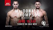 Fight Night Ottawa offers two epic clashes featuring two of Canada's top fighters. In the main event Rory MacDonald takes on Stephen Thompson and in the co-main Donald Cerrone battles Patrick Cote. Tickets on sale now!