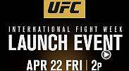 Stars of UFC 200 will be joined by top fighters competing in the events including UFC FIGHT NIGHT and THE ULTIMATE FIGHTER FINALE, in a special press conference, Friday, April 22 at 5pm/2pm ETPT from MGM Grand Garden Arena in Las Vegas.