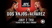 Rafael Dos Anjos defends his lightweight belt against challenger Eddie Alvarez in Las Vegas on July 7 exclusively on UFC FIGHT PASS. Tickets go on sale Friday!