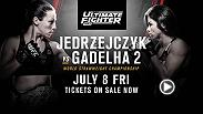 Part of UFC 200 weekend, The Ultimate Fighter 23 Finale features a fight for the strawweight belt between coaches Joanna Jedrzejczyk and Claudia Gadelha. The action is set for July 8 live on FS1 and tickets are on sale now!