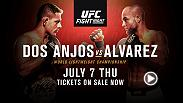 Rafael Dos Anjos defends his lightweight belt against challenger Eddie Alvarez in Las Vegas on July 7 exclusively on UFC FIGHT PASS. Tickets are on sale now!