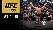Watch the official weigh-in for UFC 199: Rockhold vs Bisping, live from The Forum in Los Angeles, California on Friday, June 3 at 7pm/4pm ETPT.