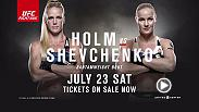 Holly Holm returns to the Octagon at Fight Night Chicago against Valentina Shevchenko and Anthony Johnson and Glover Teixeira vie for a light heavyweight title shot in the co-main event. Don't miss the action on July 23, tickets are on sale now.