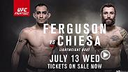 Tony Ferguson and Micheal Chiesa will fight in a lightweight battle at Fight Night Sioux Falls. Don't miss the action on July 13 on FS1. Tickets are on sale now.