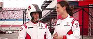 Thomas Almeida talks with UFC correspondent Amanda Salvato and the two spend the day driving race cars. Almeida looks to extend his unbeaten streak of 21-0 on Sunday against Cody Garbrandt at Fight Night Las Vegas.