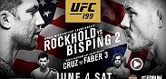 Michael Bisping gets a chance to avenge a loss to Luke Rockhold while Rockhold defends his middleweight belt for the first time. In the co-main Dominick Cruz and Urijah Faber have a rubber match for the bantamweight title.
