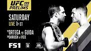 Catch the prelims for UFC 199 featuring Brian Ortega and Clay Guida on Fox Sports 2 on Sunday at 10am AST.