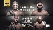 Robbie Lawler will defend his welterweight belt for the third time at UFC 201 in Atlanta, Georgia against challenger Tyron Woodley. Tickets are on sale now!