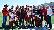 "UFC stars Donald ""Cowboy"" Cerrone and Misha Cirkunov hit the gridiron ahead of Fight Night Ottawa to throw the ball around with members of the Redblacks - Ottawa's Canadian Football League team. Watch the guys give MMA tips and take football advice."