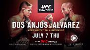 Rafael Dos Anjos puts his lightweight belt on the line against Eddie Alvarez at Fight Night Las Vegas on July 7 exclusively on FIGHT PASS.