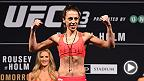 Watch the official weigh-in for The Ultimate Fighter Finale: Team Joanna vs Team Claudia on Friday, July 8, at 8am AEST.