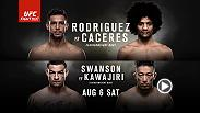 Featherweights Yair Rodriguez and Alex Caceres clash in the main event at Fight Night Salt Lake City in Utah on August 6. Tickets are on sale now!