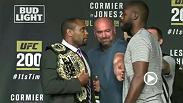 Watch the faceoffs from Wednesday's UFC 200 press conference between the stars of the main and co-main event, including Jon Jones, Daniel Cormier, Brock Lesnar and Mark Hunt.