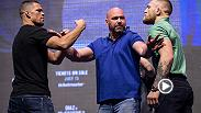 Watch the UFC 202 pre-fight press conference face off as Conor McGregor and Nate Diaz met on stage on Thursday for the first time since UFC 196.