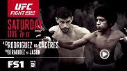 Coverage for Fight Night: Rodriguez vs Caceres begins at 7pm ET on FS1 Saturday, August 6.