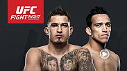 Former champ Anthony Pettis takes on aggressive finisher Charles Oliveira. Considered one of the sport's most talented in 2013 and 2014, Pettis now moves to a lighter weight class and trains in both his native Milwaukee and Albuquerque.