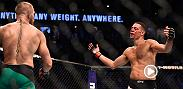 Nate Diaz talks to the media after his loss to Conor McGregor at UFC 202. Diaz, who fell by majority decision in the rematch, thought he did enough in the third round and more to earn the decision win.