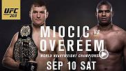 Take an in-depth look into the UFC 203 main and co-main events. First, former heavyweight champ Fabricio Werdum returns to face Travis Browne. And in the main event Stipe Miocic defends his title for the first time against Alistair Overeem.