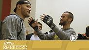 Stipe Miocic does a night session in his home gym, which is also playing host to welterweight CM Punk and his coach Duke Roufus. Fabricio Werdum gets a questionable haircut, as opponent Travis Browne does an underwater workout, and much more.