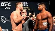 Watch the highlights from Friday's UFC 203 official weigh-in, featuring Stipe Miocic, Alistair Overeem, CM Punk and more.
