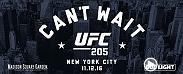 Watch the UFC 205 press conference from Madison Square Garden in New York City on Tuesday, Sept. 27 at 6pm/3pm ETPT.