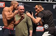 Tony Ferguson locked in a submission win last December over Edson Barboza. On Nov. 5 Ferguson squares off against former lightweight champion, Rafael Dos Anjos, in the main event at Fight Night Mexico City.