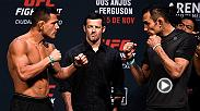 Watch the staredown between Rafael Dos Anjos and Tony Ferguson ahead of their UFC Mexico City showdown in the main event at Friday's weigh-in.