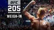 Watch the UFC 205 official weigh-in on Saturday, Nov. 12 at 10am AEDT live from Madison Square Garden in New York City.