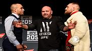 Watch as Eddie Alvarez and Conor McGregor face-off at Thursday's pre-fight press conference from Madison Square Garden.