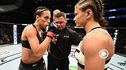 Watch Polish stars Joanna Jedrzejczyk & Karolina Kowalkiewicz in the Octagon after Jedrezjczyk successfully defended her belt at UFC 205 in Madison Square Garden.
