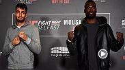 Preview the Fight Night Belfast main event, featuring the rematch between middleweights Gegard Mousasi and Uriah Hall.